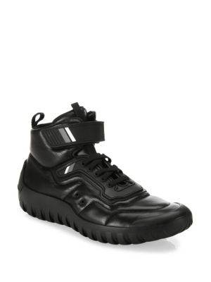Nappa Leather High-Top Sneakers