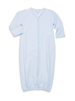 Baby's Endearing Elephants Pima Cotton Convertible Gown