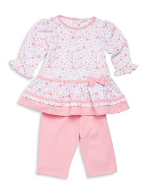 Baby's Blossoms Two-Piece Floral-Print Dress & Leggings Set