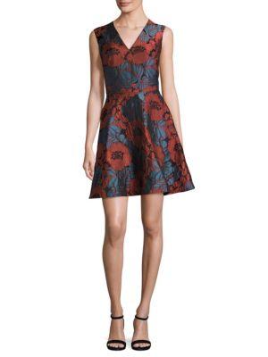 Enbroidered Floral Fit & Flare Dress