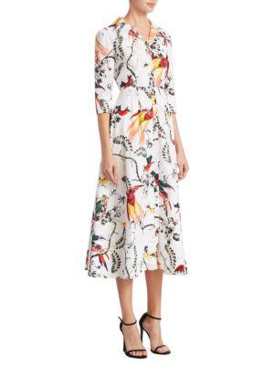 Kasia Printed Midi Shirtdress