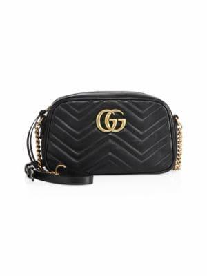 Gucci Small Gg Marmont 2.0 Matelasse Leather Camera Bag - Black