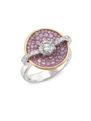 Opus Pink Diamond & 18K Yellow Gold Round Ring