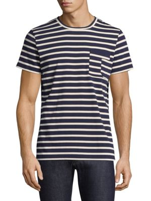 Striped Construction Tee