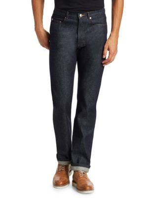 Standard Straight-Fit Cotton Jeans