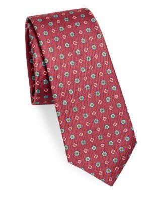 Floral Geo Silk Tie