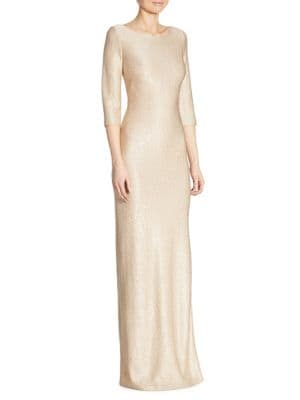 Sequin Knit Gown