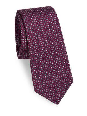 Mini Floral Print Silk Tie