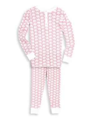 Baby's, Toddler's, Little Girl's & Girl's Two-Piece Elephant Print Pajama Set
