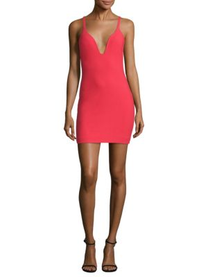 Ara Deep V-Neck Mini Dress