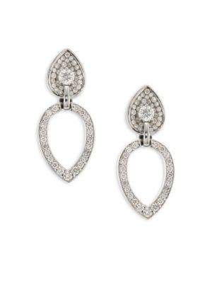 Opus Diamond & 18K White Gold Pear Stud & Ear Jacket Set