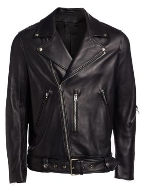 Nate Clean Leather Moto Jacket