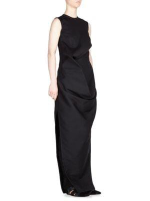 Long Wool & Silk Dress