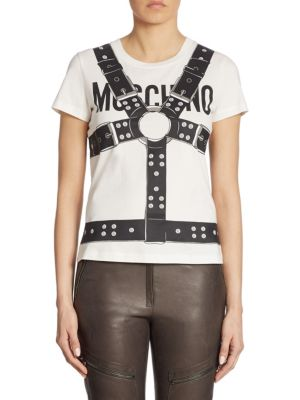 Cotton Harness Tee by Moschino