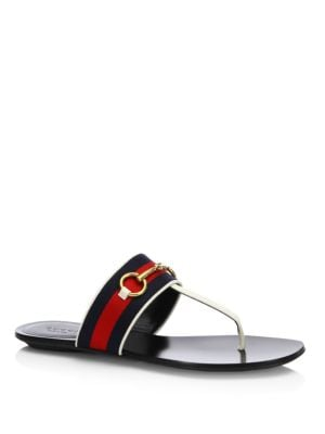 Querelle Web Thong Sandals by Gucci