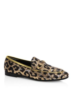New Jordaan Leopard Lurex Jacquard Loafers