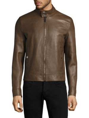 Long Sleeve Leather Jacket
