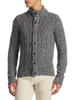 COLLECTION Trapper Button-Front Wool Cardigan