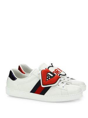 New Ace Blind For Love Leather Sneakers