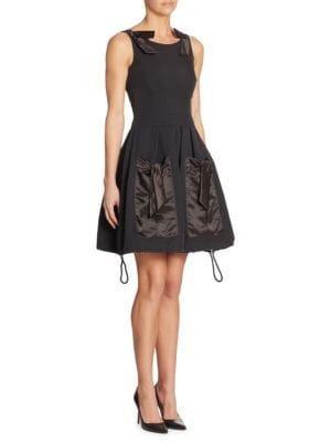 A-Line Silk Pocket Dress
