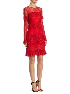 Lace Tiered Cocktail Dress