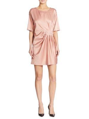 Silk Lace-Up Dress