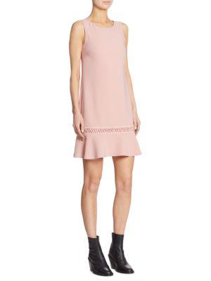 Lace-Up Drop Waist Dress