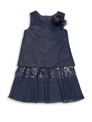 Girl's Shimmer Chiffon Sequin Dress