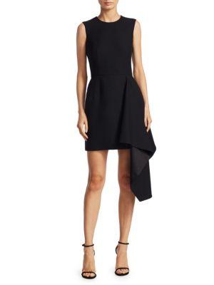 Draped Wool Dress