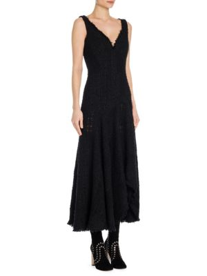 Tweed Asymmetrical Dress