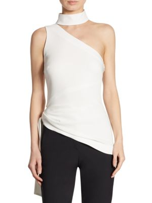 Leah One-Shoulder Choker Top by