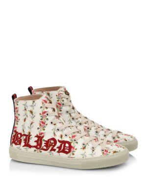Major Romantic-Print High-Top Sneakers