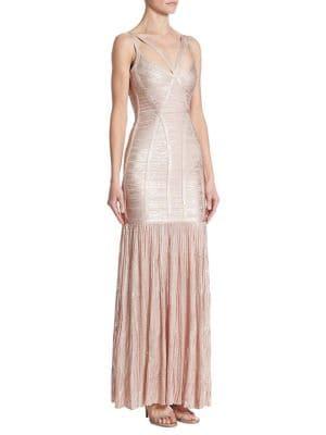 Metallic Evening Gown