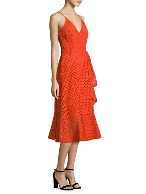 Eyelet Cotton Wrap Dress