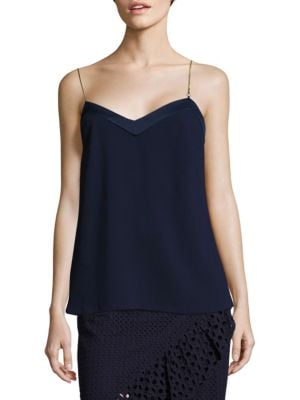Lizbeth Chain Strap Crepe Top