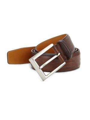 COLLECTION BY MAGNANNI Leather Buckle Belt