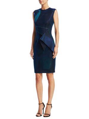 NERO BY JATIN VARMA Sleeveless Metallic Cocktail Dress