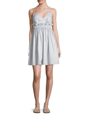 Ruffled Cotton A-Line Dress