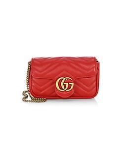 구찌 Gucci GG Marmont Matelasse; Leather Mini Chain Camera Bag