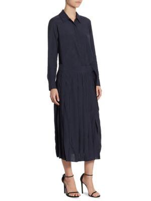 Long Sleeve Collared Shirt Dress