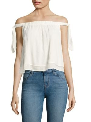 Tie-Accented Off-the-Shoulder Top by Splendid