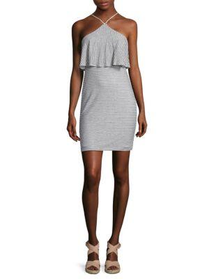 Blouson Halter Dress