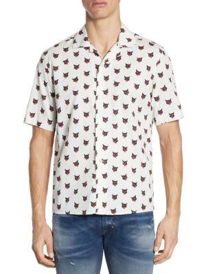 Cotton Casual Button-Down Shirt