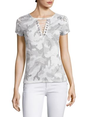 Hugo Short Sleeve Lace-Up Top by Generation Love