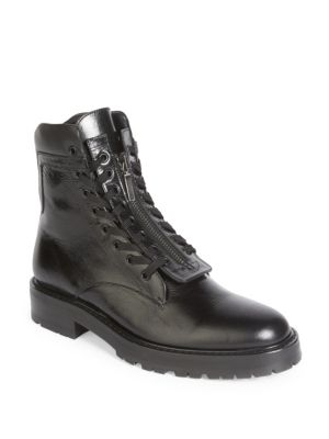 Saint Laurent William 25 Bottes Zip Avant - Noir 7rlSjPsG
