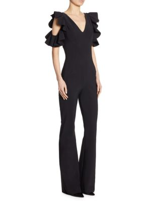 Buffy Cold-Shoulder Flared Jumpsuit