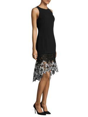 Floral Lace Hem Dress
