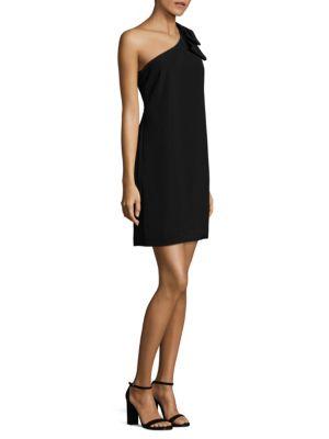 One-Shoulder Bow-Detailed Dress