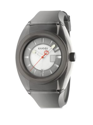 Sync Stainless Steel Rubber Watch