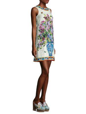 Silk Floral Tile Dress